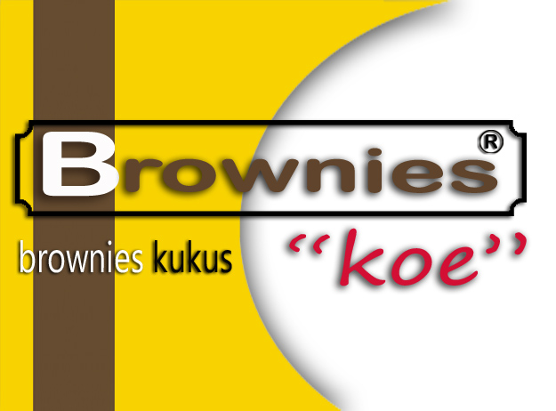"Brownies kukus merk ""koe"""