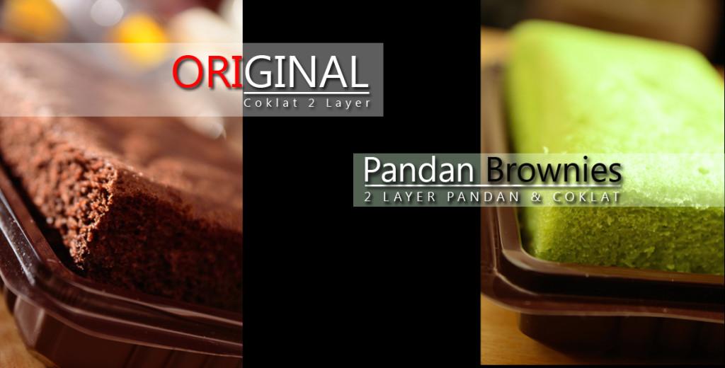 Brownies Original dan Pandan