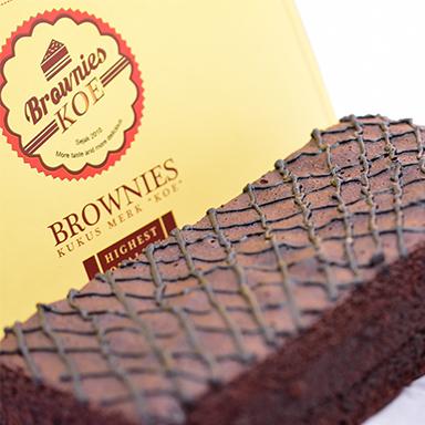 Brownies Original Malang merk KOE
