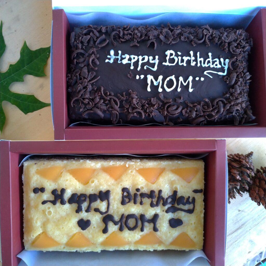 Brownies dengan text